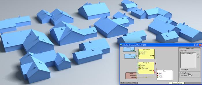 Helium node based workflows for 3dsmax designimage for Building layout maker